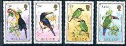 Belize              825/828  **     Oiseaux ( Toucans ) - Belize (1973-...)