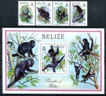 Belize              854/857  **   +  Bloc 81 **  Singes - Belize (1973-...)