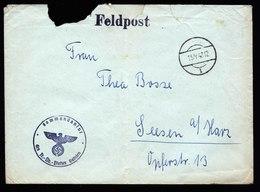 A5701) DR Feldpost Brief 15.4.43 V. Kommandantur Truppenübungsplatz Galizien - Deutschland