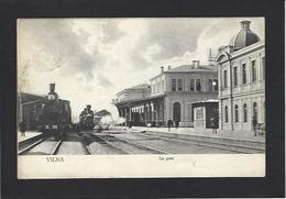 CPA Lituanie Lituania Circulé Vilna Gare Chemin De Fer Train LITHUANIA - Litauen