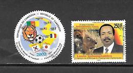 TIMBRE OBLITERE DU CAMEROUN DE 2002 N° MICHEL 1245/46 - Cameroon (1960-...)