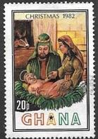 1982 Christmas, 20p, Used - Ghana (1957-...)