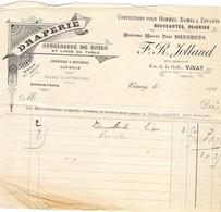 Factur 1900 Draperie R.Jolland Draperie - 1900 – 1949
