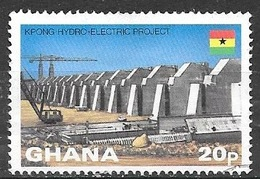 1982 Hydro Electric Project, 20p, Used - Ghana (1957-...)