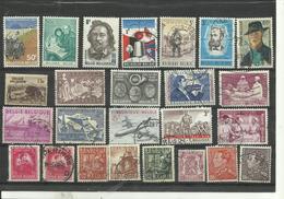 Lot De  25 Timbres De Belgique Années Diverses. - Postzegels