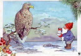 Sweden WWF Postcard Christmas Used - Sweden