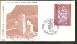 FDC 1970 La Chapelle Romane - French Andorra