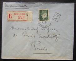 Neuilly Sur Seine 1942, Lettre Recommandée Du Docteur Marie Louise Thiollier Pour La Gare D'Austerlitz  Timbres Pétain - Marcophilie (Lettres)