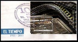 "COLOMBIA- KOLUMBIEN- 2011 FDC/SPD. "" EL TIEMPO "" NESPAPER, 100 YEARS. - Colombia"