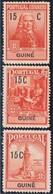 Guiné, 1925, # 5/7, Imposto Postal, MH - Guinea Portuguesa