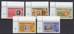 Guernsey 1990 Postage Stamp Anniversary 5v (corner) ** Mnh (41315C) - Guernsey