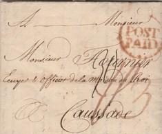 Lettre De IPSWICH Angleterre 17/7/1755 Taxes Manuscrites  Pour Caussade Tarn Et Garonne Verso Route  PS  - Texte 3 Pages - Postmark Collection (Covers)