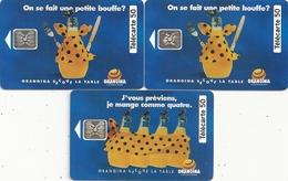 3 TELECARTES . F 381 & 382 & 383 A  - ORANGINA N° 1 - 2 - 3 . COTE POUR LES 3 = 17 € - 1993
