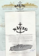 LETTRE + DOCUMENTATION MAQUETTES AVIONS ET BATEAUX  NAVIG 1957 - Other Collections
