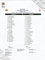 UEFA NATIONS LEAGUE 2018/19. ANDORRA Vs GEORGIA, Line-ups, Final Tournament List 15 NOV. 2018 ESTADI NACIONAL - 1950-Now
