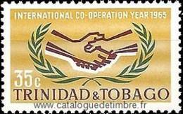 Ref. 365957 * NEW *  - TRINIDAD AND TOBAGO . 1965. INTERNATIONAL YEAR OF CO-OPERATION. A�O INTERNACIONAL DE LA COOPERACI - Trinidad & Tobago (1962-...)