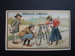 Chromo FARRADESCHE. Pub. Chocolat LOMBART.  Le Pneu Crevé.  Le VELO. Cycle. Cyclisme. - Unclassified