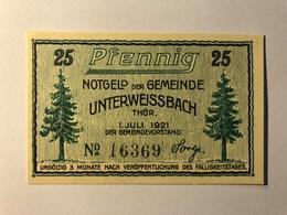 Allemagne Notgeld Unterweissbach 25 Pfennig - [ 3] 1918-1933 : Weimar Republic