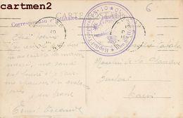 CACHET MILITAIRE HOPITAL TEMPORAIRE N°10 RUE SAINT-HELENE LYON ? MARCOPHILIE GUERRE - Guerra 1914-18