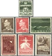 Denmark 410y,411y-412y,413y,420y, 435y,437y (complete.issue.) Floureszierend Unmounted Mint / Never Hinged 1963 CleAr Br - Denmark