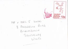 30497. Carta SALISBURY (England) 1990. SCOUT Post Viñeta, Label - Covers & Documents