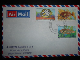 Cocs (keeling ) Lettre De 1980 Pour Paris - Cocos (Keeling) Islands