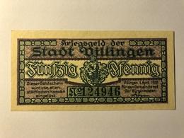 Allemagne Notgeld Villingen 50 Pfennig - [ 3] 1918-1933 : Weimar Republic