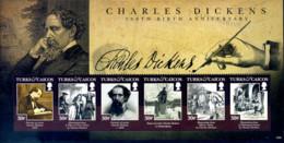 Ref. 287179 * NEW *  - TURKS AND CAICOS Islands . 2012. BICENTENARIO DE CHARLES DICKENS (1812-1870) - Turcas Y Caicos