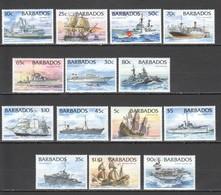 S829 BARBADOS TRANSPORT SAILING SHIPS BOATS #856-69 MICHEL 45 EURO BIG SET MNH - Ships