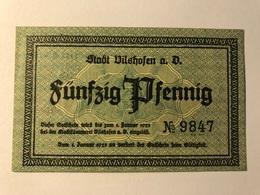 Allemagne Notgeld Vilshofen 50 Pfennig - [ 3] 1918-1933 : Weimar Republic