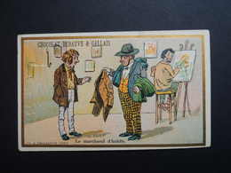 Chromo FARRADESCHE. Pub. Chocolat DEBAUVE & GALLAIS. HUGON. Paris. Le Marchand D'Habits.Peintre. Toile.Tableau - Unclassified