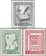 Iceland 287-289 Unmounted Mint / Never Hinged 1953 Old Iceland-Manuskripte - 1944-... Republic