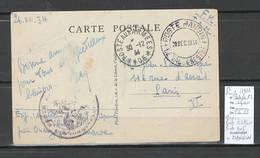 Maroc - CP - Poste Militaire - POSTE MANGIN - 1934 - Morocco (1891-1956)