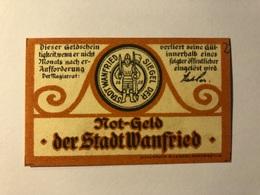 Allemagne Notgeld Wanfried 5 Pfennig - [ 3] 1918-1933 : Weimar Republic
