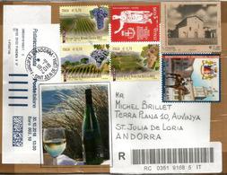 Vino Di Montepulciano,Denominazione Di Origine Controllata Garantita (DOCG),Lettera Raccomandata Indirizzata Ad Andorra - Vini E Alcolici