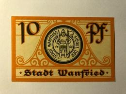 Allemagne Notgeld Wanfried 10 Pfennig - [ 3] 1918-1933 : Weimar Republic