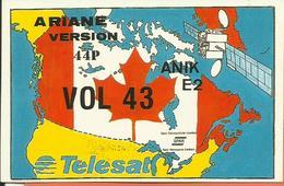 Autocollant Lancement ARIANE V43 Du 4 Avril 1991 - CLUB PHILATELIQUE DE KOUROU - ESPACE - Aufkleber