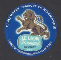 Etiquette De Fromage Camembert  -  Le Lion Normand  -  Fromagerie Rigaud  à  Champsecret   (61 S) - Fromage
