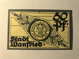 Allemagne Notgeld Wanfried 50 Pfennig - [ 3] 1918-1933 : Weimar Republic