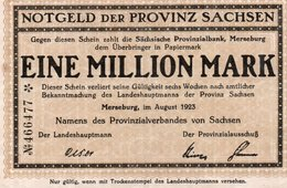 GERMANIA-SACHSEN 1 MILLION MARK 1923 - 1918-1933: Weimarer Republik