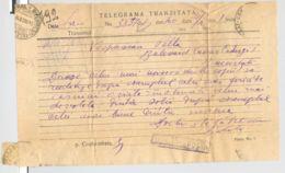TELEGRAPH, TELEGRAMME SENT FROM IASI TO BUCHAREST, 1916, ROMANIA - Telegraphenmarken
