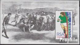 Afrique Du Sud Bloc 36 (complète.Edition.) Timbres Prémier Jour 1995 Rugby-WM - FDC