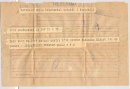 TELEGRAPH, TELEGRAMME SENT FROM ORADEA TO BUCHAREST, ROMANIA - Télégraphes