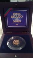 Portugal Um Escudo Em Ouro Em Seu Estojo - Portugal