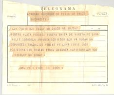 TELEGRAPH, TELEGRAMME SENT LOCO FROM BUCHAREST TO BUCHAREST, 1968, ROMANIA - Télégraphes