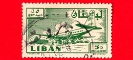 LIBANO - Usato - 1958 - Paese E Progresso - Aereo E Aeroporto - 5 - P. Aerea - Libano