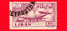 LIBANO - Usato - 1958 - Paese E Progresso - Aereo E Aeroporto - 10 - P. Aerea - Libano