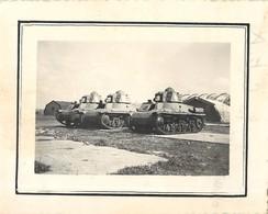 3 PHOTOGRAPHIE : TANKISTE TANK CHAR D'ASSAUT G.T.A POMPIER DE SALEE FOYER MILITAIRE GUERRE R.C.A. - Guerra, Militari