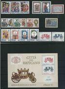 1985 Vaticano, Annata Completa 16 Valori 1 Foglietto, Tutte Serie Complete Nuove (**) - Vaticano