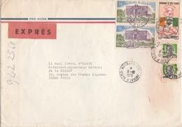 COTE D IVOIRE - LETTRE EXPRES ABIDJAN 8/10/76 POUR PARIS - Ivory Coast (1960-...)